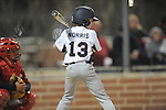 Oxford Rebels' Spencer Norris (13) vs. Batesville Red Wasps in U12 baseball at FNC Park in Oxford, Miss. on Saturday, March 22, 2014. Oxford won 11-3.