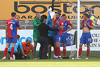 Luke Pennell of Dagenham and Redbridge receives treatment for a head injury during Dagenham & Redbridge vs Chesterfield, Vanarama National League Football at the Chigwell Construction Stadium on 15th September 2018