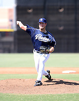 Corey Kluber / San Diego Padres 2008 Instructional League..Photo by:  Bill Mitchell/Four Seam Images