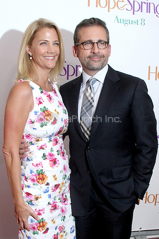NEW YORK, NY - AUGUST 6, 2012: Nancy Carell and Steve Carell at the 'Hope Springs' premiere at the SVA Theater on August 6, 2012 in New York City. © RW/MediaPunch Inc.