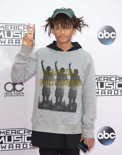 Jaden Smith at The 2014 American Music Award held at The Nokia Theatre L.A. Live in Los Angeles, California on November 23,2014                                                                                <br /> CAP/RKE/DVS<br /> &copy;DVS/RockinExposures/Capital Pictures