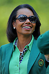 AUGUSTA, GA - APRIL 09: Condoleezza Rice during a practice round of the 2014 Masters held in Augusta, GA at Augusta National Golf Club on Wednesday, April 9, 2014. (Photo by Donald Miralle)
