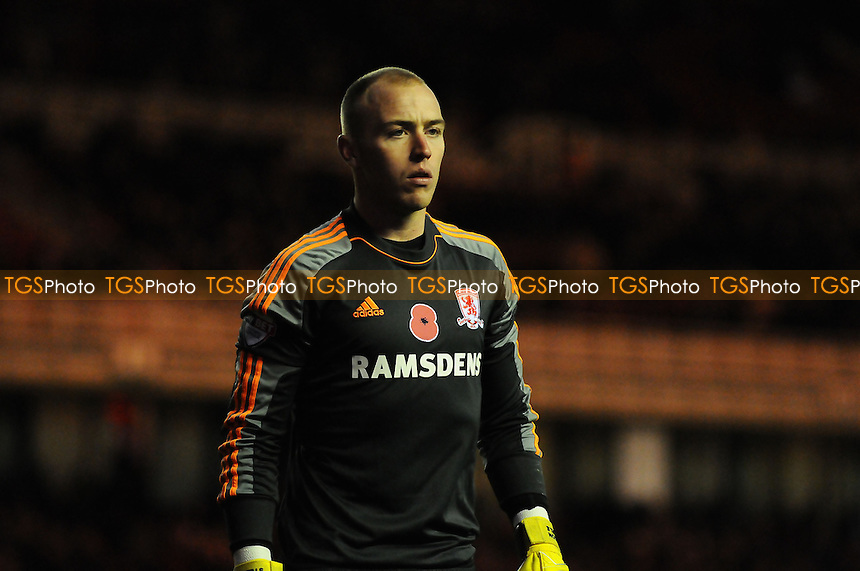 Jason Steele of Middlesbrough - Middlesbrough vs Watford - Sky Bet Championship Football at the Riverside Stadium, Middlesbrough - 09/11/13 - MANDATORY CREDIT: Steven White/TGSPHOTO - Self billing applies where appropriate - 0845 094 6026 - contact@tgsphoto.co.uk - NO UNPAID USE