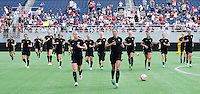Orlando, FL - October 24, 2015:  The USWNT trained in preparation for their USWNT Victory Tour match against Brazil.