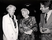 Montreal (QC) CANADA=1990 file photo -<br /> May Cutler, Jeanne Sauve, ?