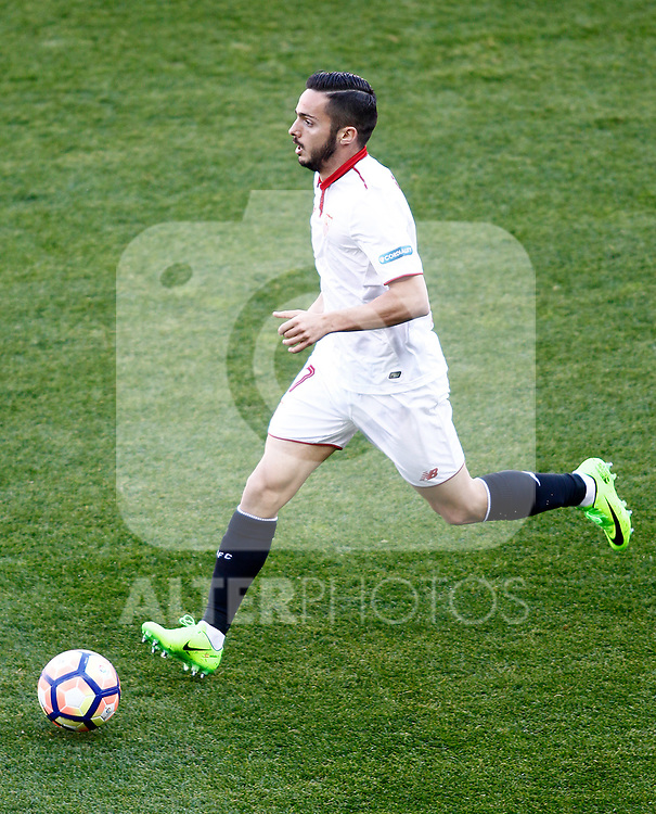 Sevilla FC's Pablo Sarabia during La Liga match. March 19,2017. (ALTERPHOTOS/Acero)