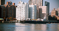 A fuel oil tanker in the East River in New York on Sunday, November 11, 2012.  (© Richard B. Levine)