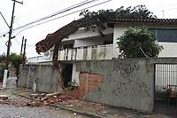 CAMPINAS, SP, 19.05.2018: CHUVA-SP - Uma árvore caiu sobre uma residência no bairro Ponte Preta em Campinas, interior de São Paulo, na manhã deste sábado (19). A queda foi devido a chuva e o vento forte que atingiu a cidade nesta manhã, não houve feridos. (Foto: Luciano Claudino/Código19)