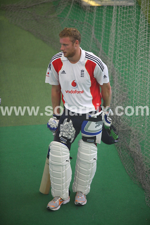 **ALL ROUND PICTURES FROM SOLARPIX.COM**.**WORLDWIDE SYNDICATION RIGHTS**.Cricket and the preparations for the Third Ashes Test at Edgbaston where England face Australia on the 30 July. Edgbaston, Birmingham, UK. 29 July 2009..This pic: Andrew Flintoff practices..JOB REF: 9635 NYA     DATE: 29_07_2009.**ALL ROUND EXCLUSIVE PICTURES FROM SOLARPIX.COM