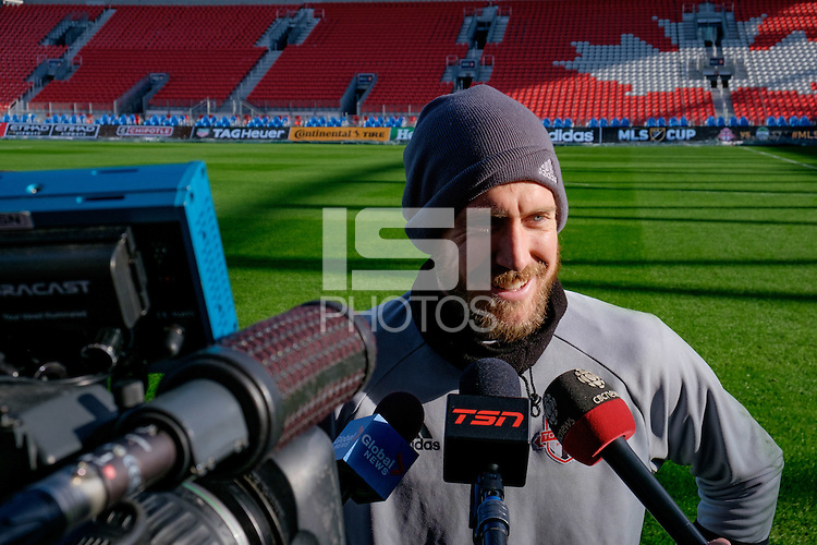 Toronto, ON, Canada - Friday Dec. 09, 2016: Clint Irwin during training prior to MLS Cup at BMO Field.