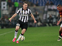Stephan Lichtsteiner  during the Italian Serie A soccer match between   AS Roma and Juventus FC       at Olympic Stadium      in Rome ,March 02 , 2015