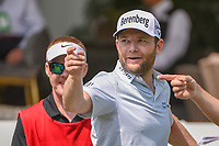 Brandon Grace (RSA) has some fun on the 10th tee before  round 2 of the World Golf Championships, Mexico, Club De Golf Chapultepec, Mexico City, Mexico. 3/2/2018.<br /> Picture: Golffile | Ken Murray<br /> <br /> <br /> All photo usage must carry mandatory copyright credit (&copy; Golffile | Ken Murray)