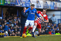 Ronan Curtis of Portsmouth holds off Aaron Lewis of Doncaster Rovers during Portsmouth vs Doncaster Rovers, Sky Bet EFL League 1 Football at Fratton Park on 2nd February 2019