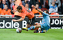 19/08/2010   Copyright  Pic : James Stewart.sct_jsp012_dundee_utd_v_aek_athens  .:: CRAIG CONWAY IS CHALLENGED BY DJEBBOUR RAFIC :: .James Stewart Photography 19 Carronlea Drive, Falkirk. FK2 8DN      Vat Reg No. 607 6932 25.Telephone      : +44 (0)1324 570291 .Mobile              : +44 (0)7721 416997.E-mail  :  jim@jspa.co.uk.If you require further information then contact Jim Stewart on any of the numbers above.........