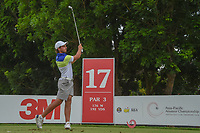 David MICHELUZZI (AUS) watches his tee shot on 17 during Rd 3 of the Asia-Pacific Amateur Championship, Sentosa Golf Club, Singapore. 10/6/2018.<br /> Picture: Golffile | Ken Murray<br /> <br /> <br /> All photo usage must carry mandatory copyright credit (© Golffile | Ken Murray)