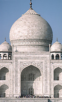 The TAJ MAHAL, built by emperor Shahjahan for his wife in 1653 - AGRA, INDIA.