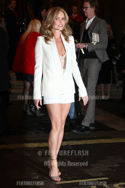 Amanda Holden arriving for the I Can't Sing Press Night, at the Paladium, London. 26/03/2014 Picture by: Alexandra Glen / Featureflash