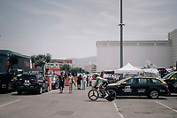 Michael Matthews (AUS/Sunweb) strolling around the team car park on his way back to the teambus after the recon<br /> <br /> 104th Tour de France 2017<br /> Stage 20 (ITT) - Marseille › Marseille (23km)