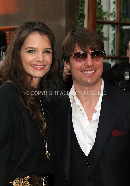 WWW.ACEPIXS.COM....April 19 2007, New York City....Actors Katie Holmes and Tom Cruise arriving at a benefit Gala for the New York City 9/11 Rescue Workers Detoxification program at the Altman Building in downtown Manhattan.The program is run by the Church of Scientology of which Cruise and Holmes are members.......Byline:  NANCY RIVERA - ACEPIXS.COM....For information please contact:....Philip Vaughan, 646 769 0430..Email: info@acepixs.com..WWW.ACEPIXS.COM