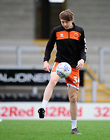Blackpool's Nathan Shaw during the pre-match warm-up<br /> <br /> Photographer Chris Vaughan/CameraSport<br /> <br /> The EFL Sky Bet League One - Burton Albion v Blackpool - Saturday 16th March 2019 - Pirelli Stadium - Burton upon Trent<br /> <br /> World Copyright &copy; 2019 CameraSport. All rights reserved. 43 Linden Ave. Countesthorpe. Leicester. England. LE8 5PG - Tel: +44 (0) 116 277 4147 - admin@camerasport.com - www.camerasport.com