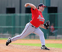 17 March 2009: RHP Michael Nix of the Atlanta Braves at Spring Training camp at Disney's Wide World of Sports in Lake Buena Vista, Fla. Photo by:  Tom Priddy/Four Seam Images