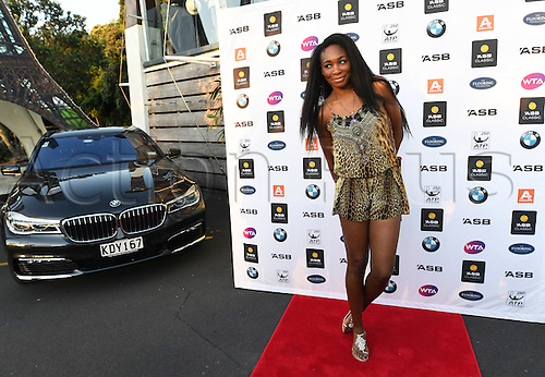 01.01.2017. Auckland, New Zealand.  Venus Williams arrives at the players party.