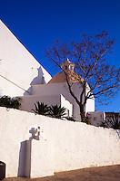 Spanien, Balearen, Ibiza, Kirche Esglesia  Puig d'en Missa in Santa Eularia des Riu