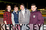 Enjoying a night at the dog's on Friday night were a group of friend's from the Mitchell's,Tralee were Megan Hobbs, James Moriarty, Luke Breen and  Séan Og Geary