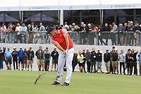 Bryson DeChambeau (USA) on the 10th fairway during the First Round - Four Ball of the Presidents Cup 2019, Royal Melbourne Golf Club, Melbourne, Victoria, Australia. 12/12/2019.<br /> Picture Thos Caffrey / Golffile.ie<br /> <br /> All photo usage must carry mandatory copyright credit (© Golffile | Thos Caffrey)