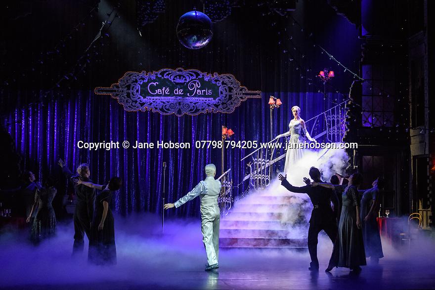London, UK. 15.12.2017. Matthew Bourne's CINDERELLA returns to Sadler's Wells and runs until January 27th 2018. Picture shows: Liam Mower (The Angel), Cordelia Braithwaite (Cinderella). Photograph © Jane Hobson.