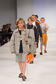 30/05/2015. London, UK. Children walk the runway during the Arts University Bournemouth fashion show at Graduate Fashion Week 2015 wearing the collection of graduate student Holly Jones. Graduate Fashion Week takes place from 30 May to 2 June 2015 at the Old Truman Brewery, Brick Lane.