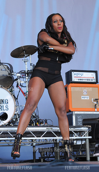 Alexandra Burke performing at Mercedes Concert, Brooklands, Surrey. 03/07/2010  Picture by: Simon Burchell / Featureflash