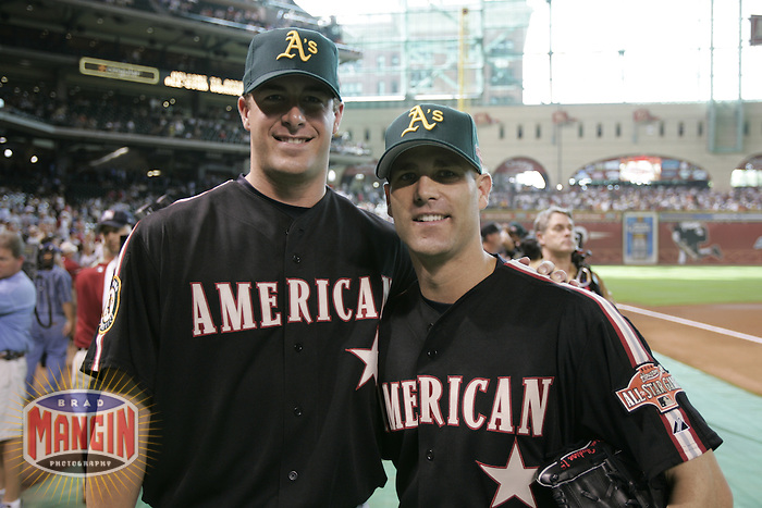 Mark Mulder and Tim Hudson. Baseball: 2004 All Star Game Home Run Derby. Houston, TX 7/8/2004 MANDATORY CREDIT: Brad Mangin