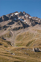 The Mont Blanc Massif ascending out of the Vallee des Glaciers September 6 2007