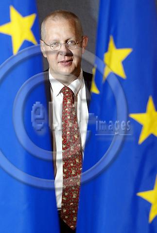 BRUSSELS-BELGIUM - 29 APRIL 2003-- Reijo KEMPPINEN the Chief spokes person of the EU-Commission.  -- PHOTO: EUP-IMAGES.COM / JUHA ROININEN