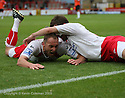 Charlie Griffin of Stevenage Borough celebrates scoring against his former club with Scott Laird after getting the second goal during the Blue Square Premier match between Stevenage Borough and Salisbury City at the Lamex Stadium, Broadhall Way, Stevenage on 17th October, 2009.© Kevin Coleman 2009 .