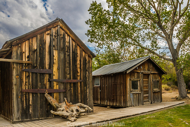 Old structures at the Eastern California Museum, Independence, CA