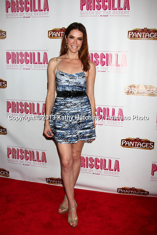 "LOS ANGELES - MAY 29:  Elina Madison arrives at  the ""Priscilla Queen of the Desert"" Play Opening at the Pantages Theater on May 29, 2013 in Los Angeles, CA"