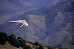 Hang Glider takes off from the summit of Mt. Diablo, Mt. Diablo State Park, Contra Costa County, California