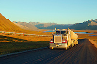 The Trans Alaska Pipeline, the Brooks Range and the Philip Smith Mountains along the western boundary of the Arctic National Wildlife Refuge or ANWR from the Dalton Highway, near Galbraith Lake, Alaska