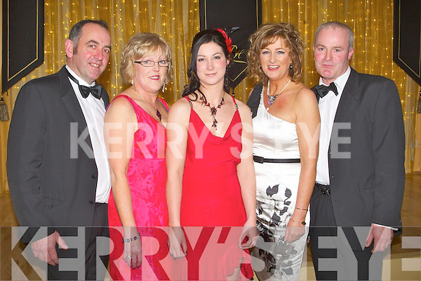 HUNT FUN: Enjoying the fun at the Ball at the Ballygarry House hotel and Spa on Friday l-r: Mike O'Halloran, Catherine Griffin, Emily Vial, Bernadette Hannarhan and Jerimah.