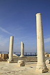 Israel, Sharon region, the Roman bathhouse complex in Caesarea