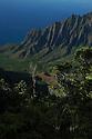 The Kalalau Valley on the island of Kauai, Hawaii.