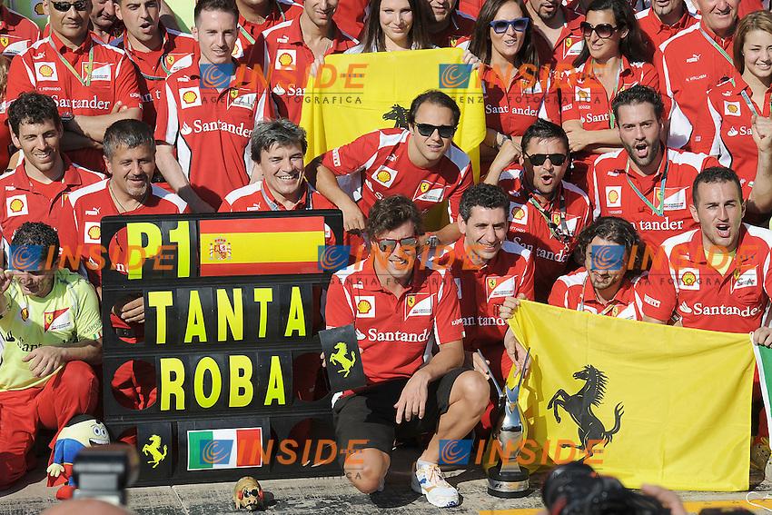 FERNANDO ALONSO et FERRARI  .Valencia 24/06/2012 Gran Premio Formula1.Foto Insidefoto /Bernard Asset / Panoramic.ITALY ONLY.