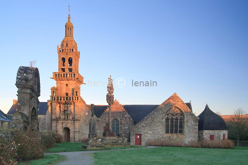 France, Finistère (29), Plomodiern,  Sainte-Marie-du-Ménez-Hom, chapelle de Sainte-Marie-du-Ménez-Hom // France, Finistere, Plomodiern,  Sainte-Marie-du-Menez-Hom, chapelle de Sainte-Marie-du-Menez-Hom