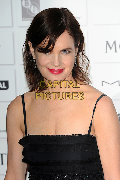 Elizabeth McGovern.The 14th Moet British Independent Film Awards 2011, Old Billingsgate, London, England..December 4th, 2011.headshot portrait black red lipstick .CAP/CJ.©Chris Joseph/Capital Pictures.
