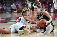 NWA Democrat-Gazette/J.T. WAMPLER Arkansas' Chelsea Dundee fights for the ball with University of Alabama at Birmingham's Lea Kerstein Sunday March 24, 2019 at Bud Walton Arena in Fayetteville during the second round of the Women's National Invitational Tournament. Arkansas won 100-52 and takes on TCU Thursday night at home.