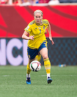 Winnipeg, Canada- June 8, 2015:  Sweden tied Nigeria 3-3 during the opening group game of the FIFA Women's World Cup at Winnipeg Stadium.