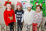 Moyderwell students Pearl Quilligan, Tadgh O'Sullivan, Tatiana Lukasiewicz and Nadia Jajlowska getting ready for the Christmas play in Moyderwell NS on Thursday.