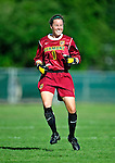 28 August 2009: University of Vermont Catamounts' goalkeeper Eliza Bradley, a Senior from Charlotte, VT, is all smiles after a win against the University of Montreal Carabins at Centennial Field in Burlington, Vermont. The Catamounts defeated the Carabins 3-2 in sudden death overtime. Mandatory Photo Credit: Ed Wolfstein Photo